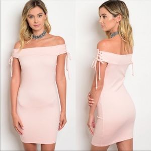 Dresses & Skirts - 🔥🔥NWT🔥🔥🌺Sexy Peach off the shoulder dress